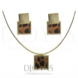 Collar con Aros Animal Print